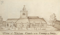 A view of Mitcham church in the County of Surrey